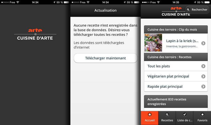 Arte Lance Son Application Mobile De Recettes Les Gourmands 2 0